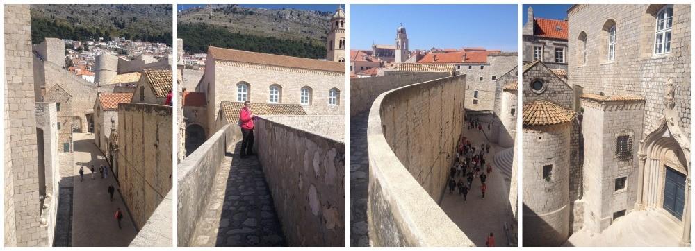 City wall walk in Dubrovnik 2015