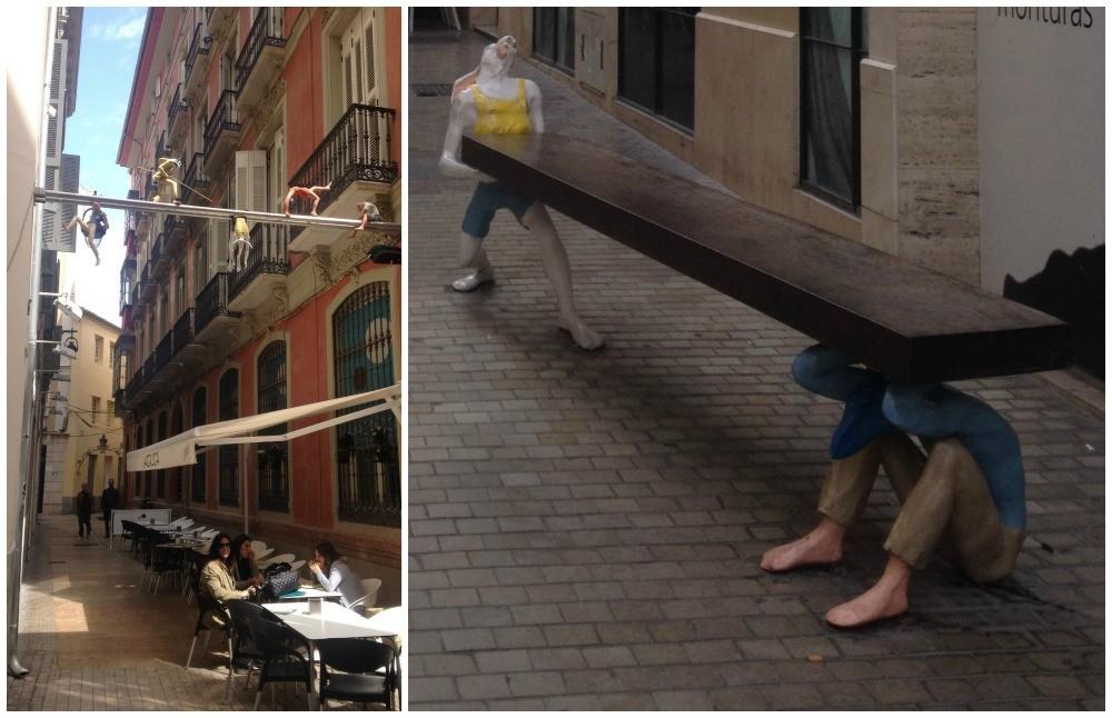Clever art designs in Malaga 2015