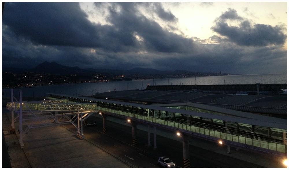 Cruise terminal Malaga earling morning 2015