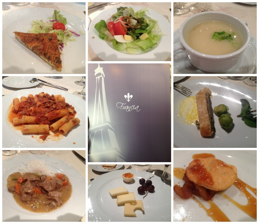 Dinner meals French theme on MSC Magnifica 2015