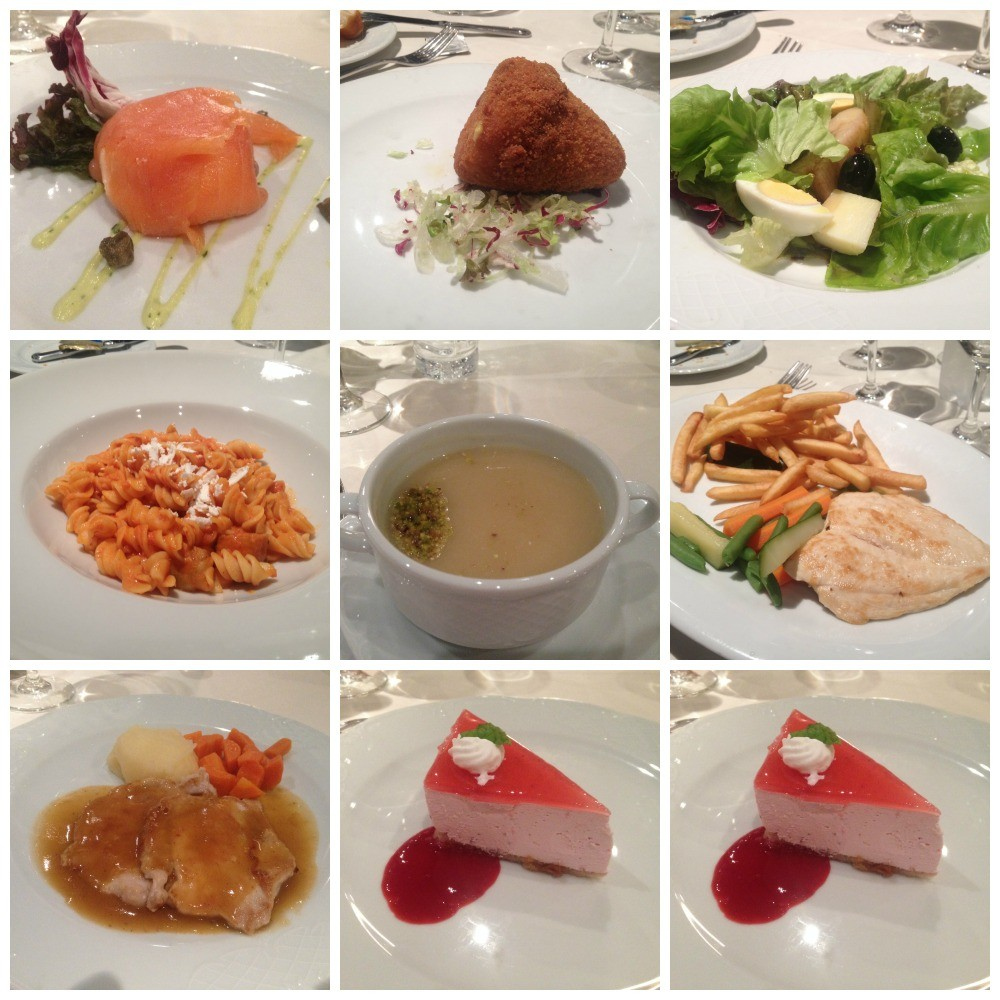 Dinner meals MSC Magnifica 2015