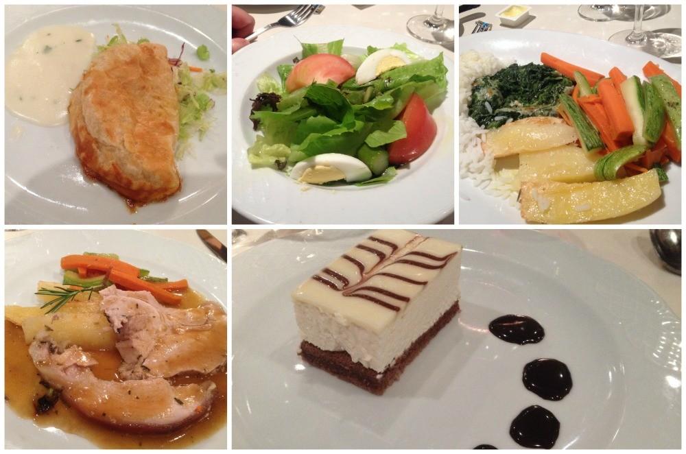 Dinner meals MSC Magnifica