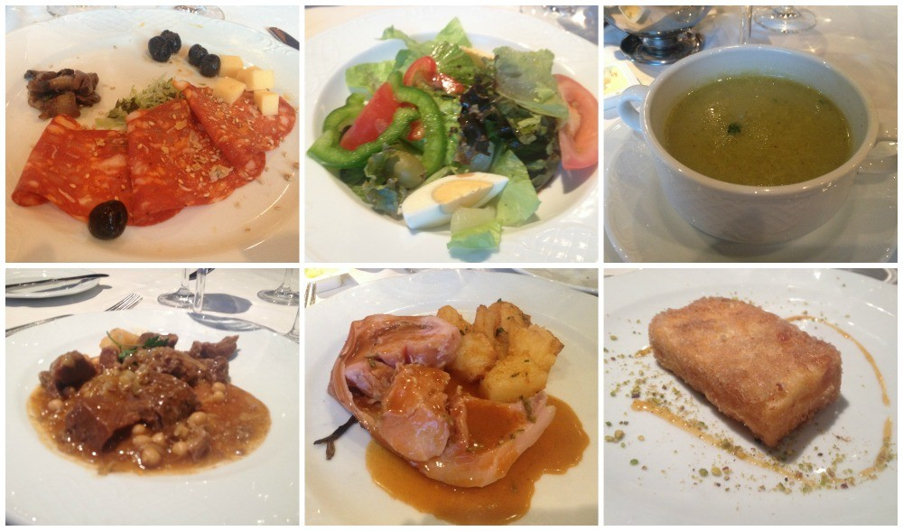 Easter Monday dinner meals on MSC Magnifica 2015