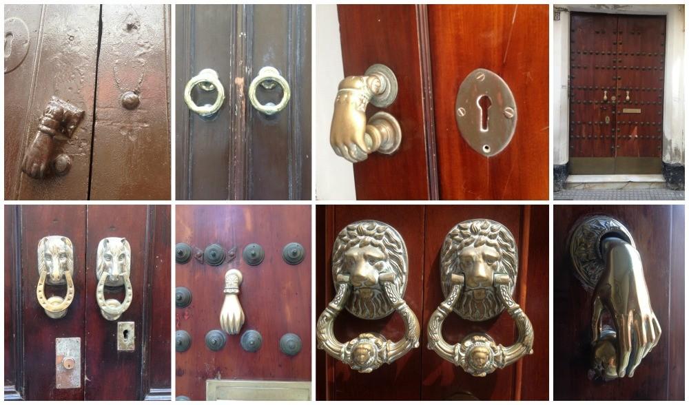 Door knockers of Cadiz, Spain