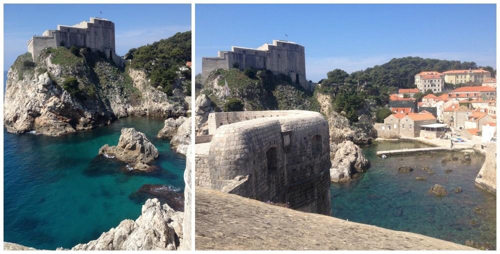 Fort Lovrijenac seen from Fort Bokar in Dubrovnik Old city 2015