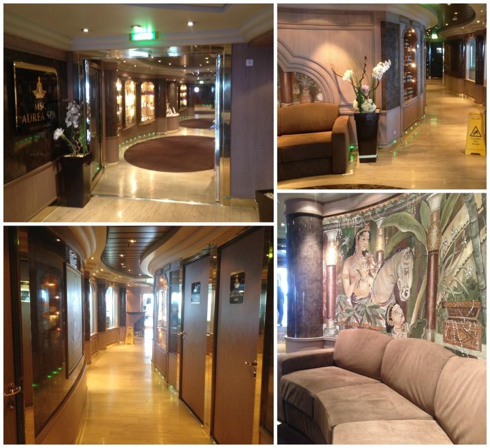 Inside the MSC Aurea Spa on Magnifica 2015