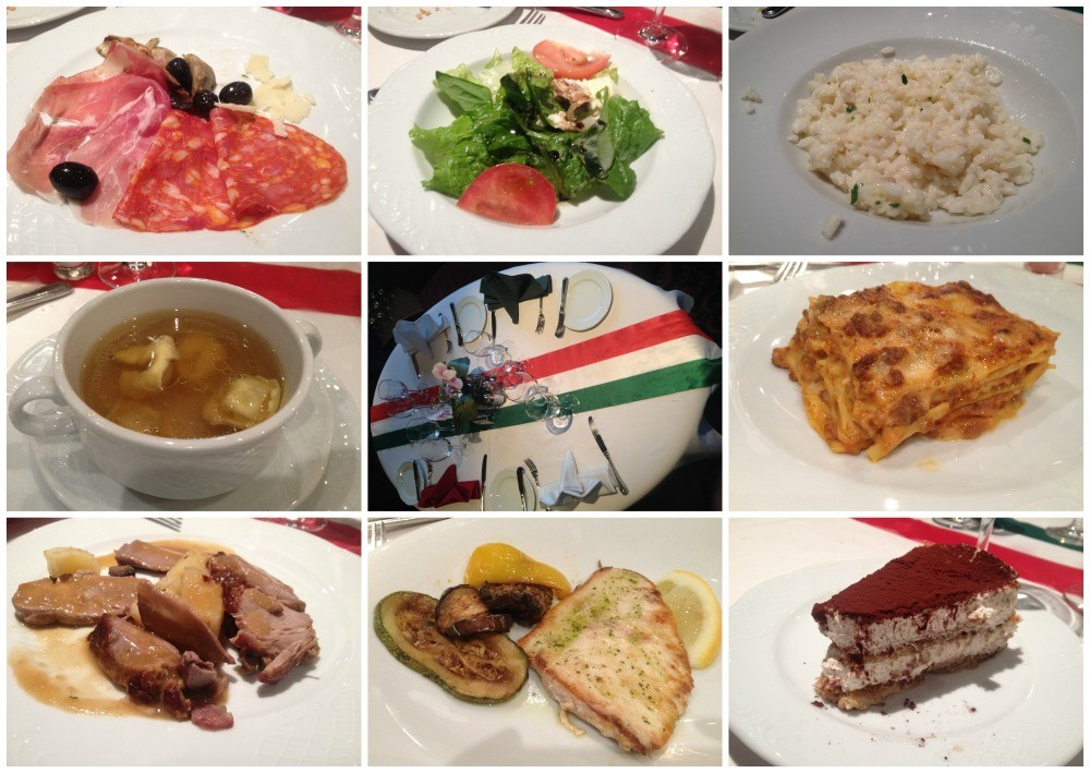 Italian theme dinner on MSC Magnifica 2015
