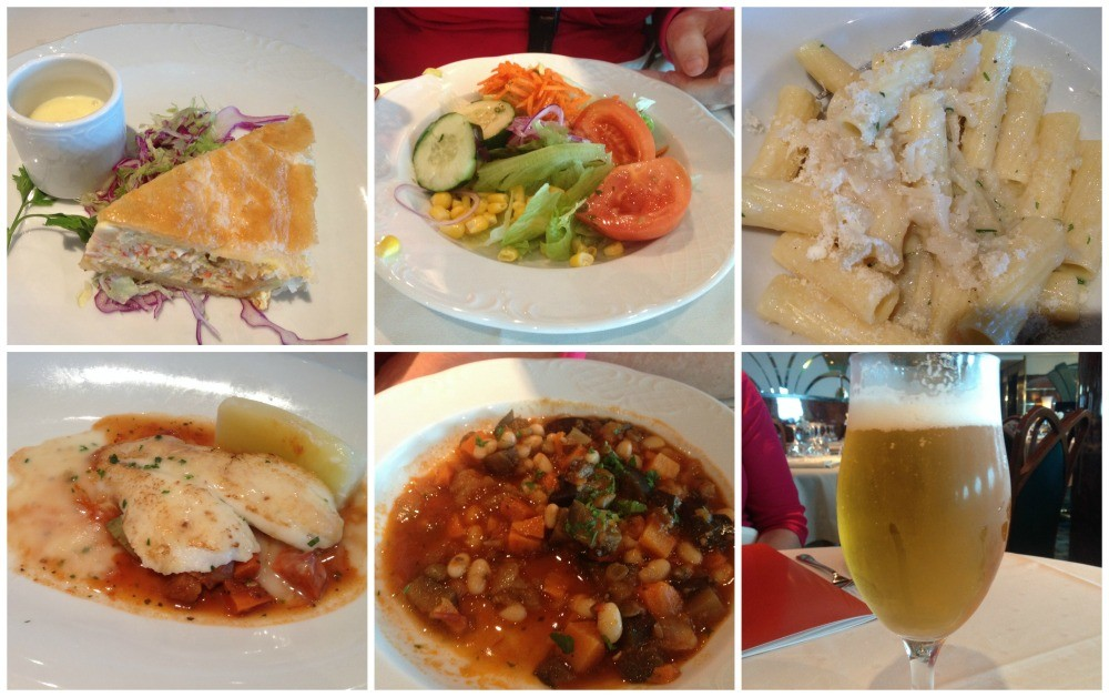 Lunch meals in L'Edera restaurant on MSC Magnifica