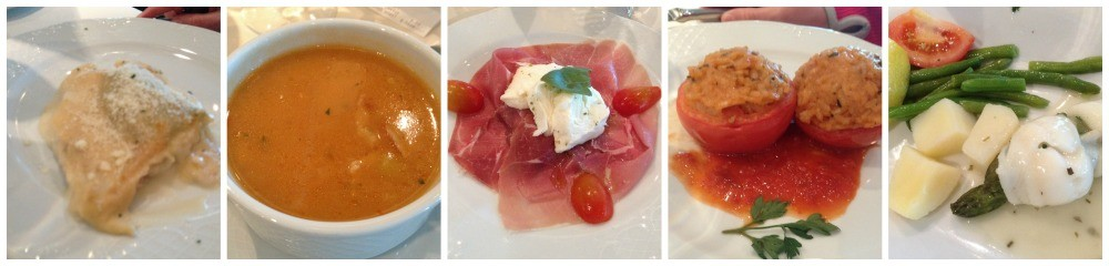 Lunch meals on MSC Magnifica