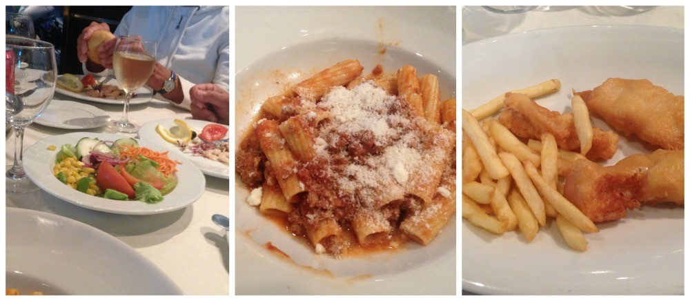 Lunch meals today on MSC Magnifica