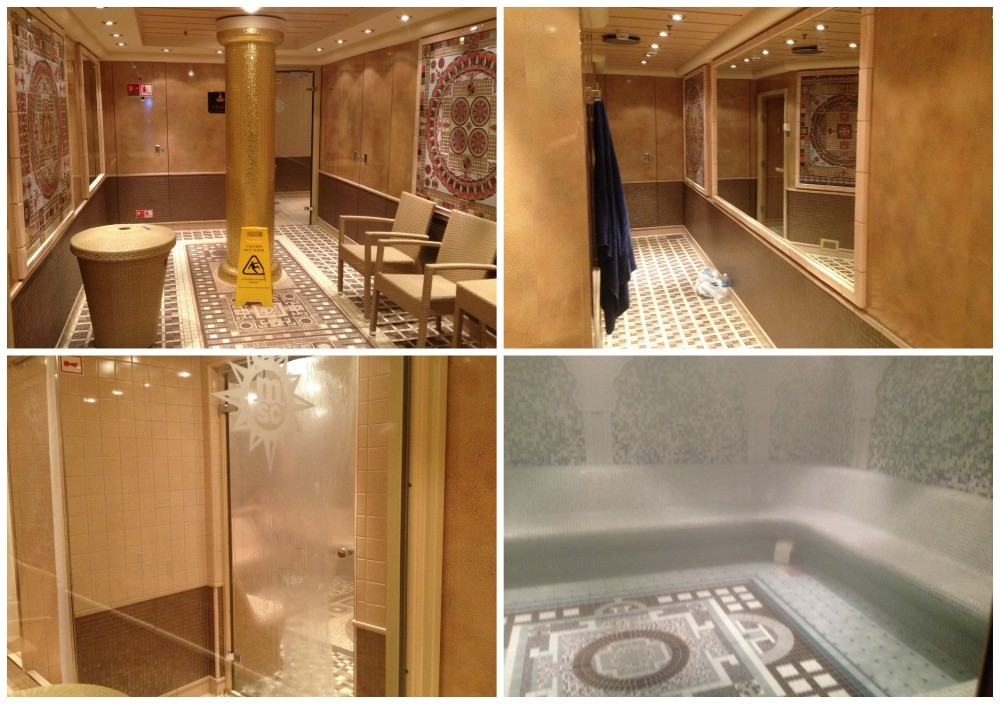 MSC Aurea Spa steam rooms on Magnifica 2015