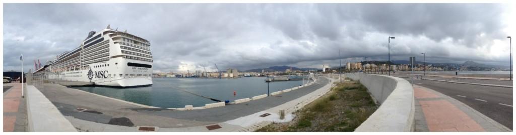 MSC Magnifica in Malaga port 2015