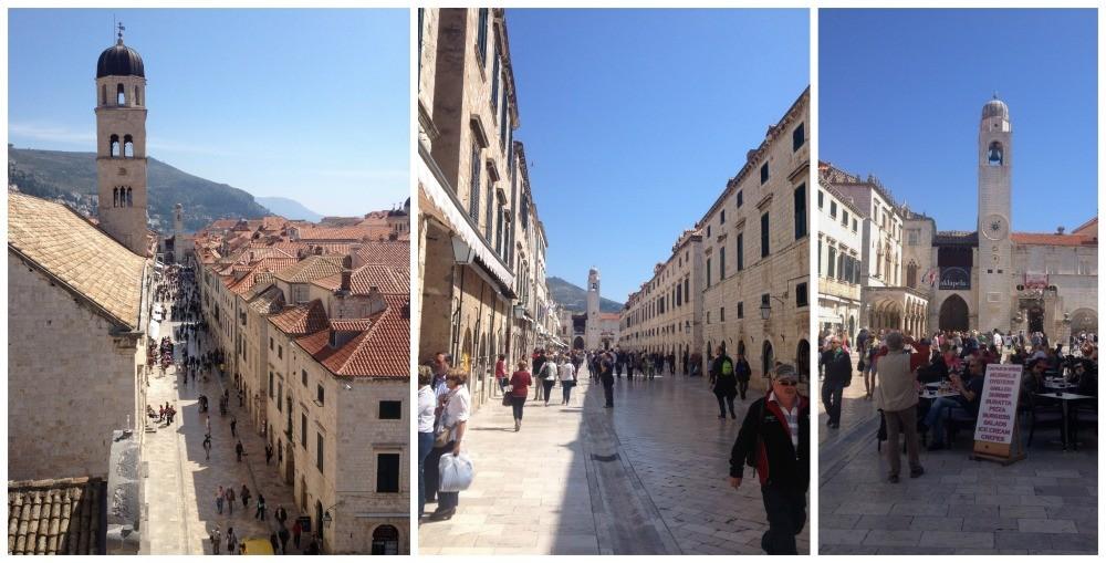 Main street Placa-Stradun Old City Dubrovnik, Croatia 2015