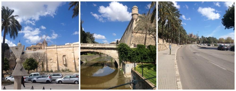 Mallorca walk towards the cathedral along Avenue Gabriel Roca