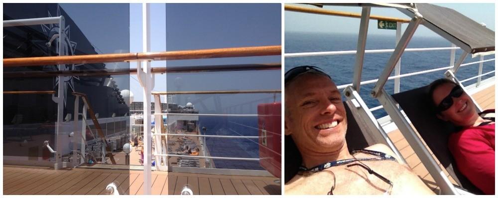 On deck sun loungers