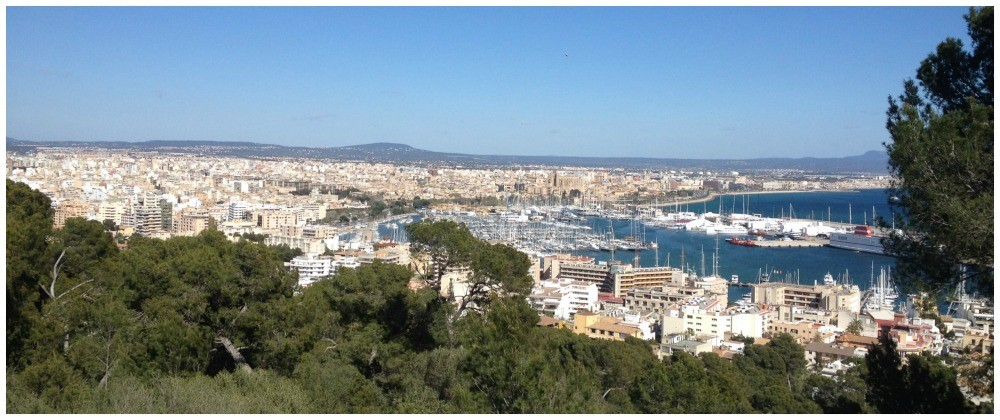 Palma de Mallorca view from the castle 2015