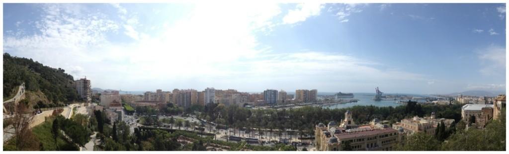 Panorama of Malaga 2015