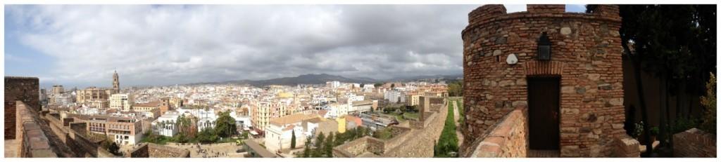 Panorama over the city of Malaga 2015