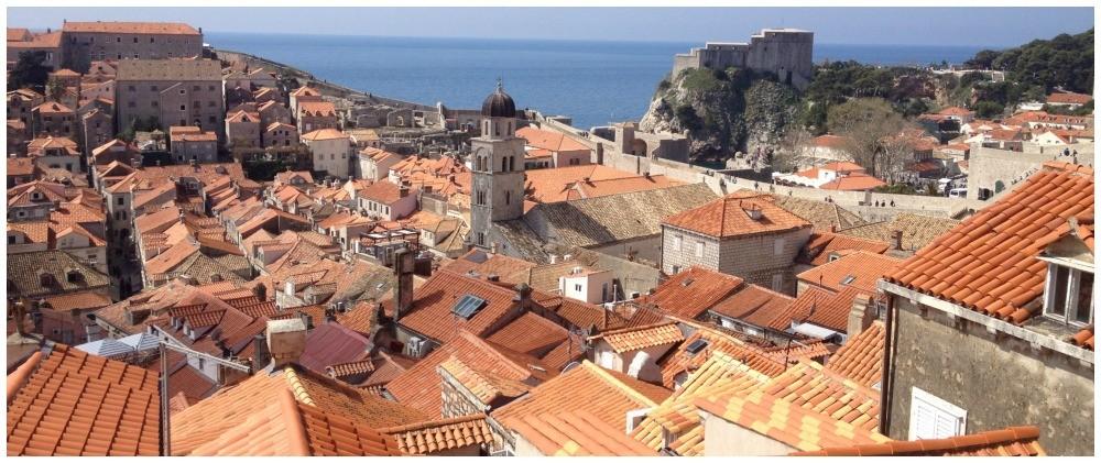 Rooftop views in Dubrovnik old city 2015
