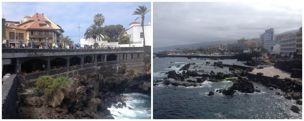 Sea front of Puerto de la Cruz in Tenerife