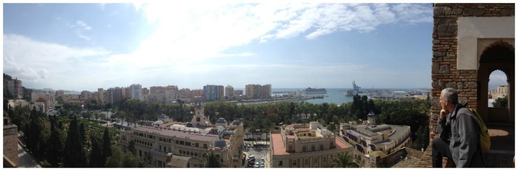 The city below of Malaga 2015