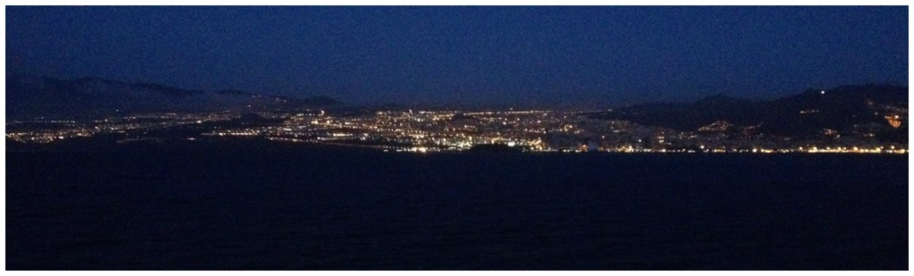 The lights of Santa Cruz de Tenerife