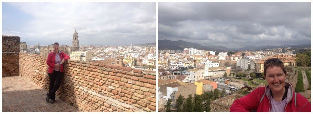 View over Malaga from the Alcazaba 2015