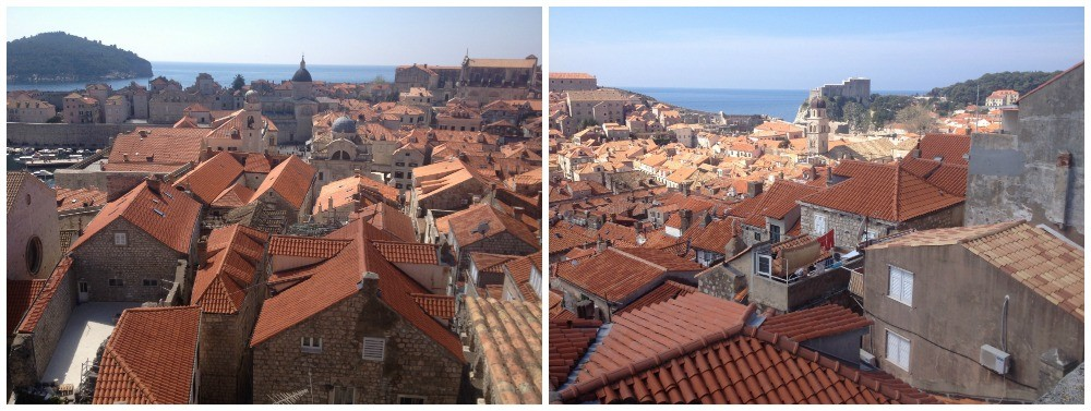 Views over the houses of the Old City in Dubrovnik 2015