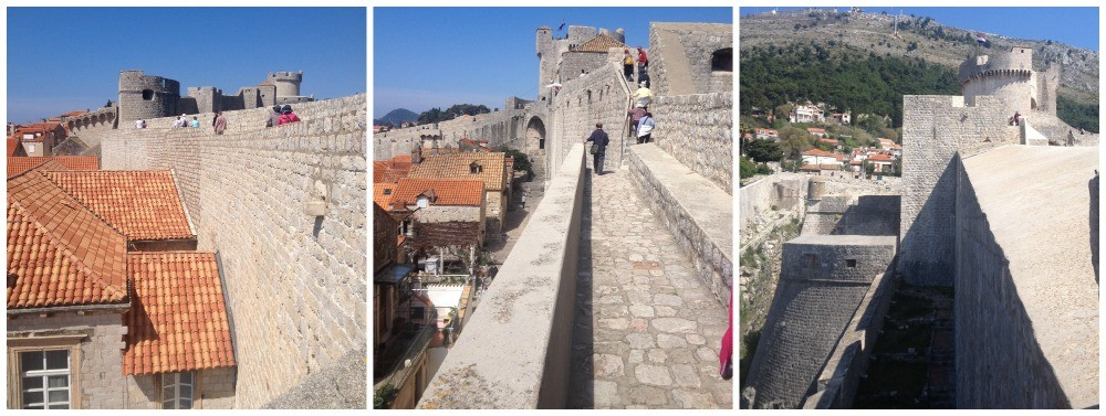Views to Fort Minceta, Old City in Dubrovnik 2015