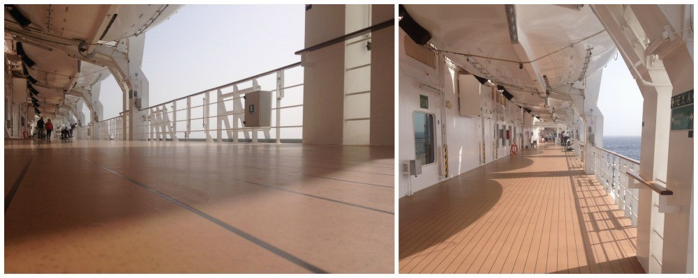 Walking promenade on deck 7 MSC Magnifica
