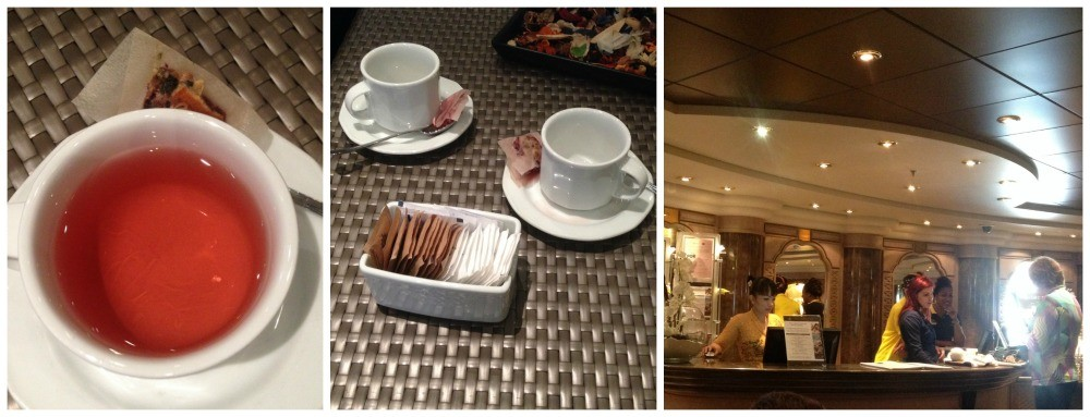 Welcome tea in Aurea Spa MSC Magnifica 2015