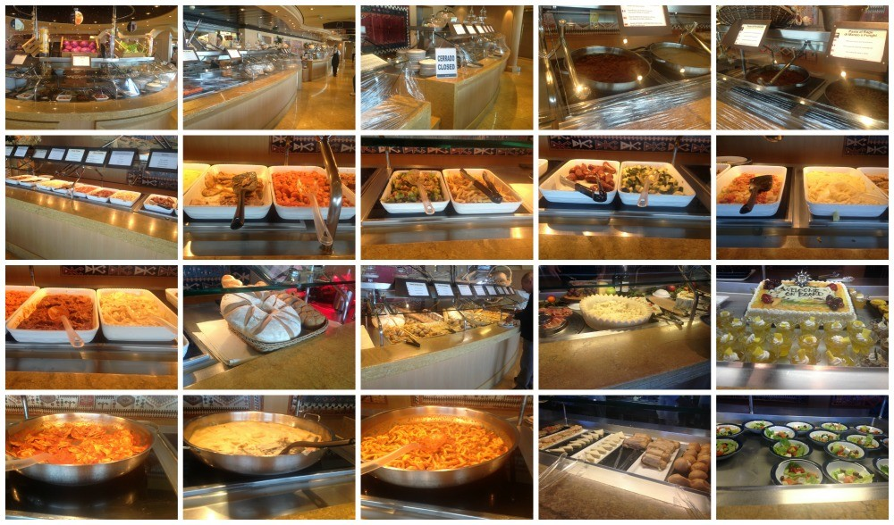 A good selection of buffet items for lunch on MSC Magnifica 2015