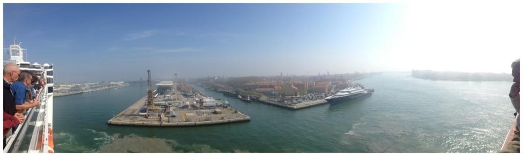 Approaching Venice cruise terminal 2015