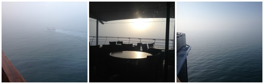 Arriving in Venice in thick fog April 2015