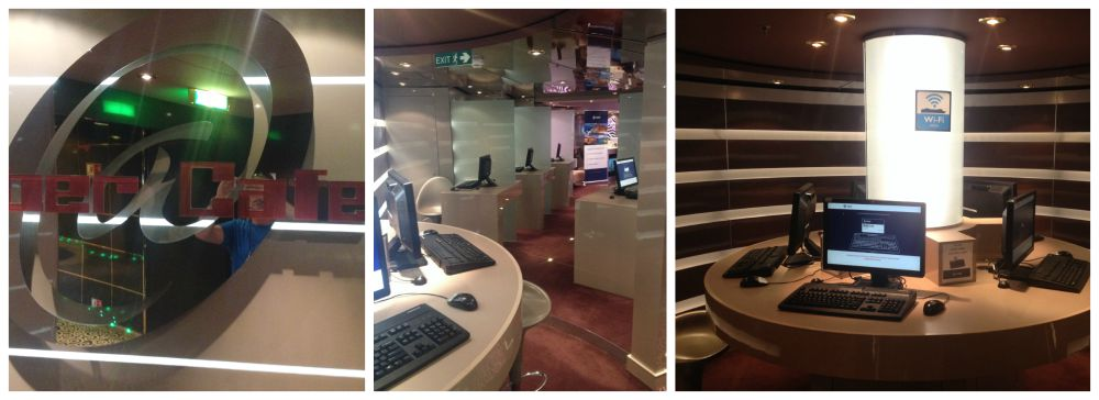 Cyber Cafe on MSC Magnifica 2015