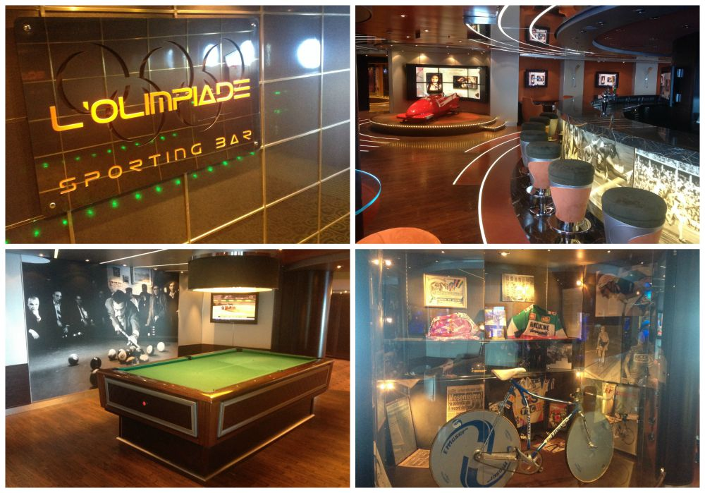 L'Olimpiade Sporting Bar on MSC Magnifica 2015