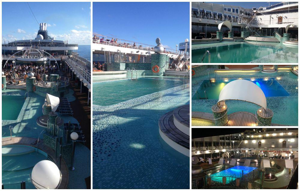 Le Grand Blue Pool Area on MSC Magnifica 2015