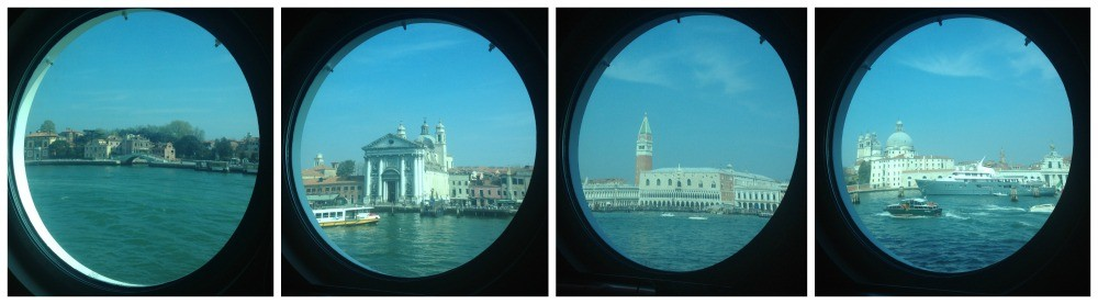 Porthole view of Venice 2015