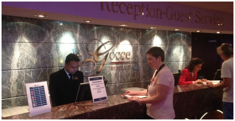 Reception-Guest Services on MSC Magnifica 2015