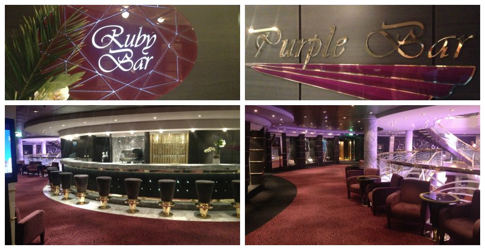 Ruby & Purple Bars on MSC Magnifica 2015