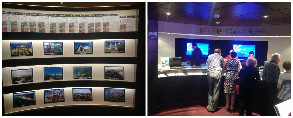 Travel Agency (tour desk) on MSC Magnifica 2015