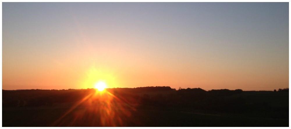 sunset over Pellegrue, France