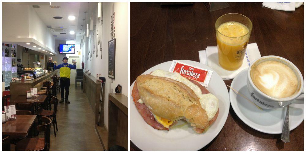 3 Euro breakfast in Logroño on the Camino