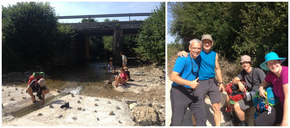A refreshing break with Wolfgang & Sandro on our Camino 2015