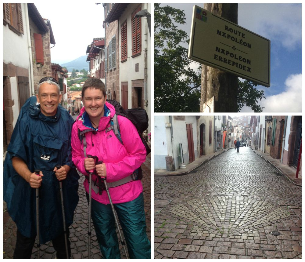 All smiles at the start of the Camino Napoléon Route 2015