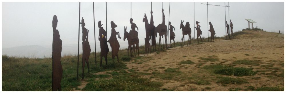 Alto de Pardon on the Camino walk