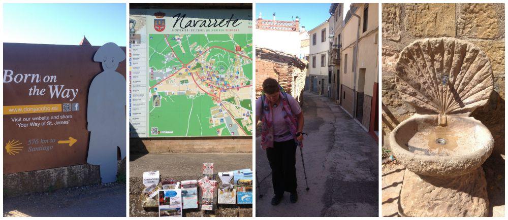 Arriving in Navarrete