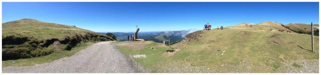 At 1450 metres above sea level the peak