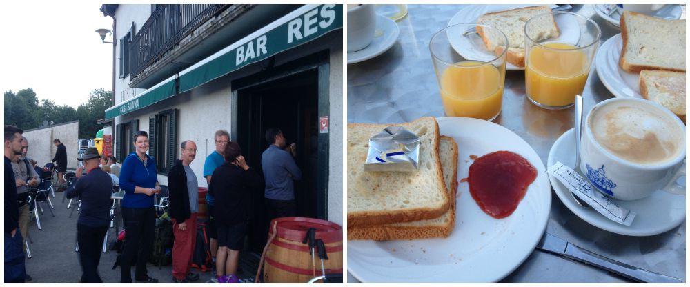 Breakfast at Casa Sabina in Roncesvalles
