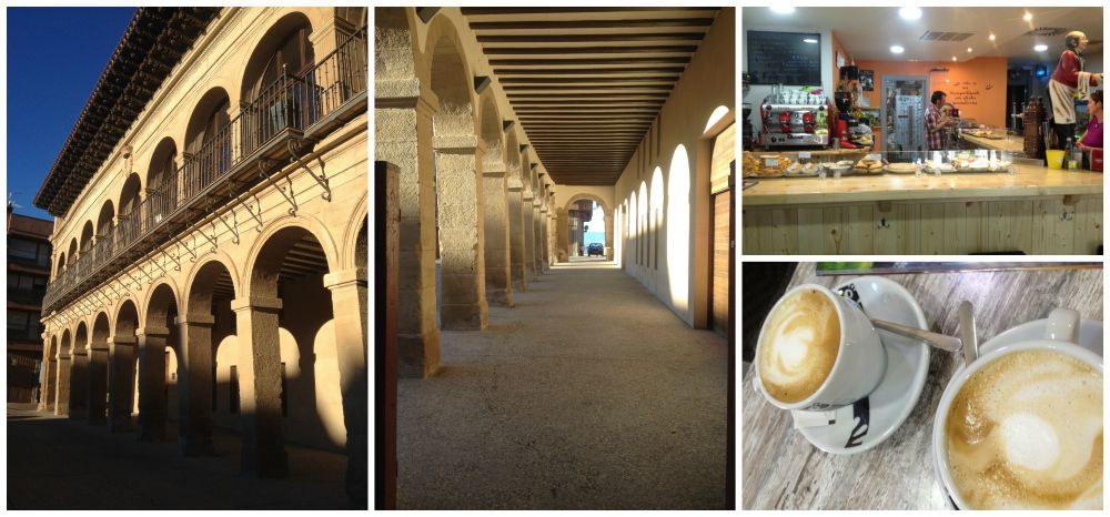 Breakfast in Viana before leaving to Logroño